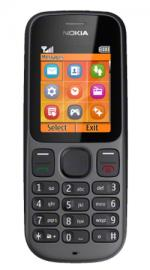 Nokia 100 Orange Pay As You Go Mobile Phone - Black