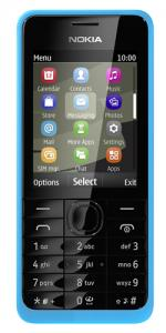 Nokia 301 Mobile Phone / Sim Free / Unlocked - Blue