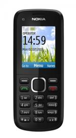 Nokia C1-02 Sim Free Unlocked Mobile Phone - Black