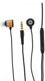 Fonerange Stereo In-Ear Earphones with Mic - Black