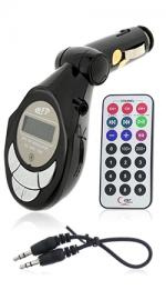 Fonerange Wireless FM transmitter and Remote Control for Car with LCD Indicator for MP3 Player/ iPod and 206 Channel Select - Black