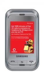 Samsung C3300 Libre Vodafone PAYG Mobile Phone - Silver