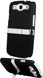 Fonerange Samsung Galaxy S3 I9300 Hard Stand Case with Screen Protector - Black