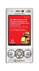 Sony Ericsson W715 Mobile Phone on Vodafone PAYG