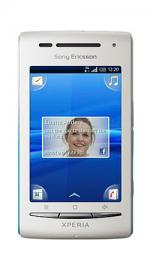 Sony Ericsson Xperia X8 Android O2 Pay As You Go Mobile Phone - White/Aqua