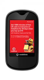 Vodafone VF541 Touch Black Mobile Phone on Vodafone PAYG