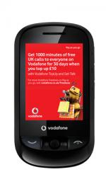 Vodafone 543 Pay As You Go Mobile Phone Black