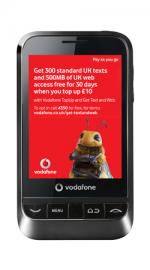 Vodafone 845 Android Black Phone On Vodafone Pay As You Go