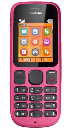 Nokia 100 O2 Pay As You Go Mobile Phone - Pink