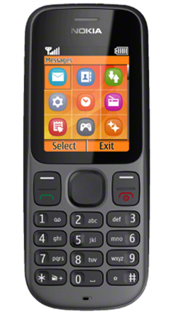 Nokia 100 Sim Free Unlocked Mobile Phone - Black