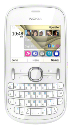 Nokia Asha 201 Vodafone Pay As You Go Mobile Phone - White