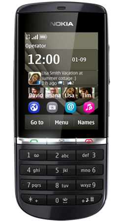 Nokia Asha 300 Vodafone Pay As You Go Mobile Phone - Graphite