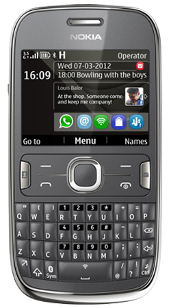 Nokia Asha 302 Vodafone Pay As You Go Mobile Phone - Grey