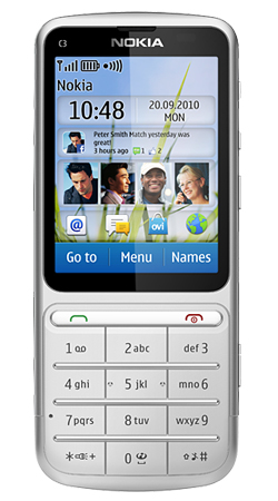 Nokia C3-01i Vodafone Pay As You Go Mobile Phone Silver with 1GHz Processor