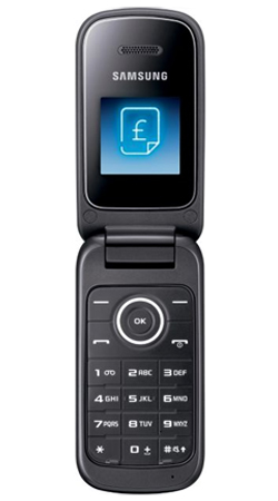 Samsung E1190 O2 Pay As You Go Mobile Phone - Coconut Black