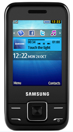 Samsung E2600 Sundance Orange Payg Mobile Phone - Black