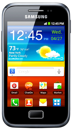 Samsung Galaxy Ace Plus S7500 Vodafone Pay As You Go Mobile Phone - Black