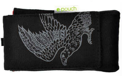 Black Eco Epouch Universal Recycled Phone Pouch, Case - Phaze