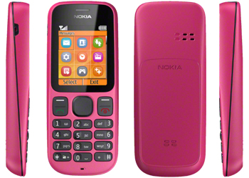O2 Be Brilliant >> Nokia 100 Pink Mobile Phone, Nokia 100 O2 Payg Prepay Price UK