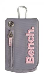 Bench Mobile Phone Pouch, Carry Case - Grey with Pink